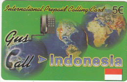 GREECE - Indonesia, Gus Call By Amimex Prepaid Card 5 Euro, Used - Greece