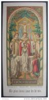 ANCIENNE IMAGE PIEUSE Chromo Doré Année 1908 : LA COMMUNION LE PLUS BEAU JOUR DE MA VIE / HOLY CARD / SANTINO - Devotion Images