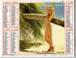 Calendrier Des Postes Almanach P.T.T. 1989 Morbihan - Calendars