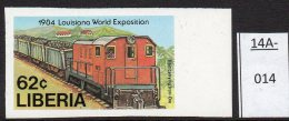 ** Liberia 1984 Railways: 62c Diesel Train, Imperf U/m (MNH)