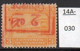 * Haiti 1917-19 2c/3c Railway / Tramway Tracks, Surcharge Inverted, M/m - Trains