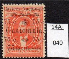 ** Guatemala 1886 75c/1p Railway Bond Type With 'Carreos' For 'Correos' Error U/m (MNH) - Eisenbahnen
