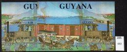 ** Guyana : 1988 Japan Railway Steam Train M/s - The TWO Types U/m (MNH) - Trains