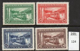 * San Marino 1932 Railway Opening - Electric Train - Set/4 M/m - Trains