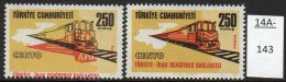** Turkey 1971 250k Railway Train With Huge Red Shift (+ Normal To Compare) U/m (MNH) - Trains
