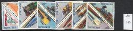 ** Surinam 1985 Triangular Set/12 : Railways / Trains / Eisenbahnmotiv / Trenes U/m (MNH) - Trains
