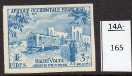 **French West Africa Railway : 1955 Chemin De Fer;  Train : Imperf Colour Trial / Proof  U/m (MNH) - Trains