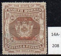 * North Borneo : 1905 $10 SG 145 M/m (catalogue Value In SG £600.00) - North Borneo (...-1963)