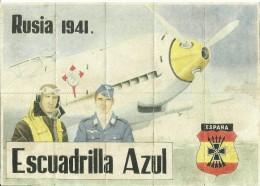 321-*SPAIN CIVIL WAR*WWII*10 UNCUT COUPONS*GUERRA CIVIL ESPA�OLA*C�RTAMA, M�LAGA*ESCUADRILLA AZUL*BLUE DIVISION*
