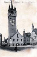 STRAUBING Der Stadtturm (Blick Vom Ludwigsplatz) 1900? - Straubing