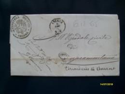 1865 FRANCHIGIA  Da Ancona Per Cupramontana Circondario Di Ancona - 1861-78 Victor Emmanuel II.