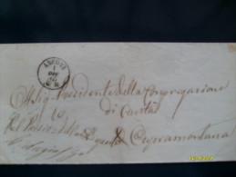 1 Dicembre 1865 FRANCHIGIA  Da Ancona Per Cupramontana Circondario Di Ancona Arrivo Al Verso - 1861-78 Victor Emmanuel II.