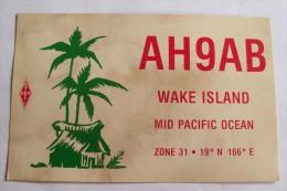 QSL,RADIO AMATEUR-WAKE ISLAND - Radio Amateur
