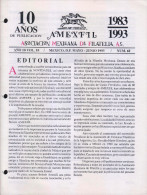 G)1993 MEXICO, AMEXFIL MAGAZINE, SPECIALIZED IN MEXICAN STAMPS, YEAR 10 VOL. 10-MAY-JUN- 1993-NUM. 60, XF - Riviste: Abbonamenti