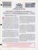G)1993 MEXICO, AMEXFIL MAGAZINE, SPECIALIZED IN MEXICAN STAMPS, YEAR 11 VOL. 11-JUL-AUG- 1993-NUM. 61, XF - Riviste: Abbonamenti