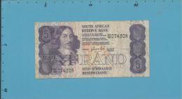 South Africa - 5 RAND - ( 1981 - 89 ) - Pick 119.c - Sign. 6 - Watermark: Jan Van Riebeek - 2 Scans - Afrique Du Sud