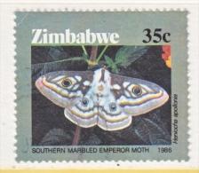 ZIMBABWE  532   (o)  INSECTS  MOTH - Zimbabwe (1980-...)
