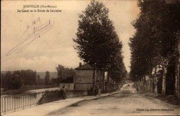 CPA ANIMEE JOINVILLE - LE CANAL ET LA ROUTE DE LORRAINE - Joinville