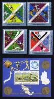 1971 Nord  Yémen YAR  Médaillés D'or Français  Stades Olympiques  MiNr 1498-1501, Bl 181 - Yemen