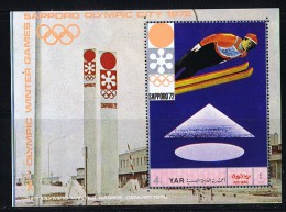 1970  Nord Yémen YAR  Sapporo '73 Saut à Skis MiNr Bloc 147 * MH - Yemen