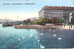AK 854  Gmunden - Austria Hotel Und Schubert Park / Verlag Zieher Um 1910-20 - Gmunden