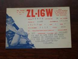 New ZEALAND ( ZL-16W ) CB Radio - J Vincent McMinn - 1958 ( Zie Foto Voor Details ) - Radio Amateur