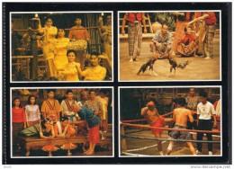 THAILAND POSTCARD - Boxing, Poultry, Culture ** - Tailandia