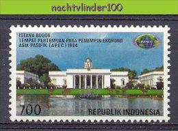 Mgm1616 APEC ARCHITECTUUR GEBOUWEN ARCHITECTURE BUILDINGS PRESIDENTIAL PALACE INDONESIA 1994 PF/MNH  VANAF1EURO - APEC