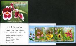 North Korea 2014 Booklet Kim Il Sung's 102th Birthday  Flower Orchid Orchids - Corea Del Norte