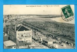 CP, 85, LES SABLES D'OLONNE, La Plage Un Jour De Courses, Voyagé En 1912 - Sables D'Olonne