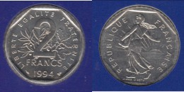 ****  FDC 2 FRANCS 1994 ABEILLE SEMEUSE NEUVE SOUS BLISTER - COTE: 80 EUROS ***** EN ACHAT IMMEDIAT !!!