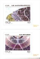 CARTOLINE DI POSTE ITALIANE NUOVE- VERSO IL 2000 GENERAZIONI E LO SPAZIO - Lettres & Documents