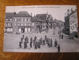 CPA - LENS Avant La Guerre - Place De La Gare Et Rue De La Gare - Lens