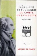 C1 NAPOLEON Memoires Du Comte De LAVALLETTE Ministre Des Postes - Libri