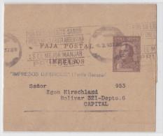 Argentine - Argentina - Bande De Journal - Newspaper Wrapper - Entier Postal - Stationery - Faja Postal Dos Centavos - Entiers Postaux