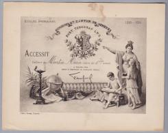 Div. Schulzeugnis 1918-19 Genf - Ecole Primaire Genève - Accessit élève De 1ère Année - Diplômes & Bulletins Scolaires
