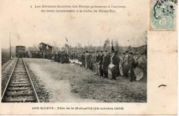 Fete De La Mutualite Arrivee Du Train Ministeriel Carte Rare!! - Les Riceys