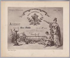 Div. Schulzeugnis 1919-20 Genf - Ecole Primaire Genève - Accessit élève De 2ère Année - Diplome Und Schulzeugnisse