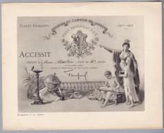 Div. Schulzeugnis 1921-22 Genf - Ecole Primaire Genève - Accessit élève De 4ème Année - Diplome Und Schulzeugnisse