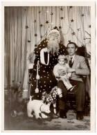 Photo Enfant & Père-Noël, Jouets (cheval, Ours)