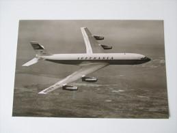 Echtfoto 1960 Lufthansa D-ABOB Boeing Intercontinental. Frankfut (Main) Flughafen - 1946-....: Moderne