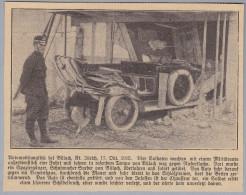 Div. ZÜRICH 1915-10-1? Ausschnitt Einer Zeitung über Militär Automobilunglück - Ex-libris