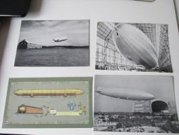 Postkarten 5 Stück Zeppeline Luftschiff ZR III / LZ1. Mit Luftschiff Z.R. 3 Befördert. Interessante Karten... - Dirigibili