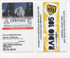 alt563 skipass,ski area, funivia cablecar t�l�ph�rique impianti a fune, Cervino Cervinia Valtournanche, Radio 105
