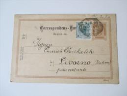 Österreich Ganzsache Ausgabe 1890 Mit Zusatzfrankatur! P 79 (Slov) Von Wien Nach Livorno (Italien)  Verwendet 1897 - Entiers Postaux