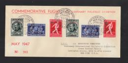Commemorative Flight NY Centenary Philatelic Exhibition 1947 - Belgien