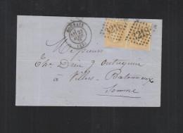 Lettre 1870 Roubaix - Poststempel (Briefe)