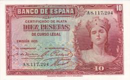 10 PTS  2ª REPUBLICA  1935 - [ 2] 1931-1936 : Repubblica