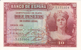 10 PTS  2ª REPUBLICA  1935 - [ 2] 1931-1936 : République