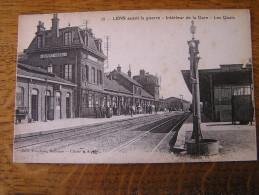 CPA - LENS Avant La Guerre - Intérieur De La Gare - Les Quais. - Lens